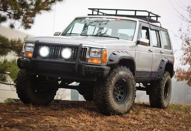 All Terrain Extended Fender Flare Kit, XJ (11634.10 / JM-02372 / Rugged Ridge)