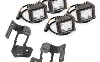 A-Pillar Light Mount Kit, Dual Cube, JK (11232.19 / JM-03532 / Rugged Ridge)