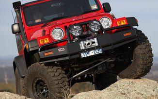 Front Recovery Bumper, ARB Bull Bar, TJ (3450070 / JM-02045 / ARB)