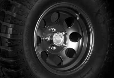 Black Alloy Wheel, 15x8 (1430.23 / JM-03138 / DuraTrail)