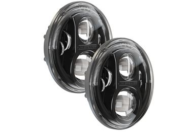 "7"" LED Headlights, 8700 Evolution 2 (Black) (11JUKBJKIT / JM-03003 / J.W. Speaker)"
