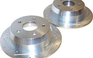 Brake Rotor Set (Rear; Drilled & Slotted) WJ (52098666DS / JM-01348 / Crown Automotive)