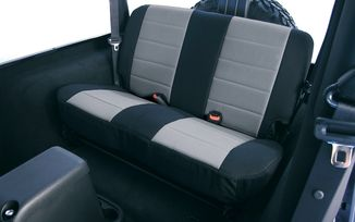 Rear  Seat Covers, Grey/Black Neoprene, TJ 03-06 (13263.09 / JM-04791/B / Rugged Ridge)