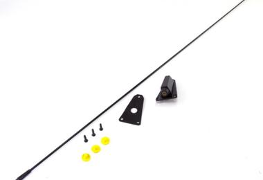Black Antenna Kit, 76-95 Jeep CJ & Wrangler (17214.02 / JM-03875 / Omix-ADA)