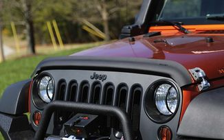 Bug Deflector, Matte Black, JK (11348.02 / JM-02549 / Rugged Ridge)