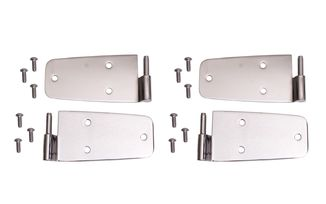 Door Hinge Kit, Stainless, 76-93 CJ & Wrangler (11113.01 / JM-04825 / Rugged Ridge)