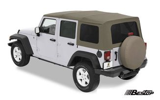 Supertop Soft Top, Khaki, JK 4 Door (54717-36 / JM-01111 / Bestop)