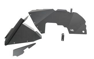 Inner Fender Liners, Front, Aluminum, Black; JL (11615.61 / JM-05010 / Rugged Ridge)