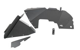 Inner Fender Liners, Front, Aluminum, Black; JL (11615.61 / JM-05010 / Rugged Ridge)