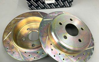 Rear Performance Brake Disc / Rotor (Pair), WK , XK (52089275AB / JM-05882 / Terrafirma)