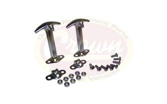 Hood Catch Kit (Stainless) CJ & YJ (488401 / JM-01385 / Crown Automotive)
