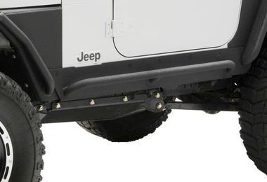 Rock Sliders with Step, XRC Armor, TJ (76871 / JM-02342 / Smittybilt)