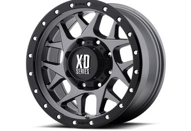 Bully XD127, Grey W/ Black Ring ,17x9 (XD12779050412N / JM-02969 / XD Series)