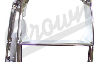 Headlight Bezel (Black/Chrome-Right) (55034078 / JM-03386 / Crown Automotive)
