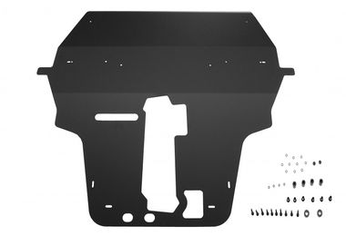 Front Skid Plate (Black) (JR1001N / JM-01495 / Rock's 4x4)