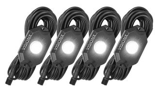XP Series LED Rock Light 4 Pod Kit (White) (HIL-RL4W / JM-04863 / Vision X lighting)