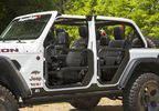 Front Tube Doors with Mirrors, JL (11509.15 / JM-03929 / Rugged Ridge)