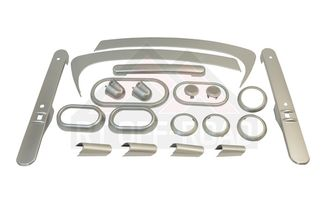 Complete Interior Trim Kit (2-Door; Brushed Silver) (RT27031 / JM-02499 / RT Off-Road)