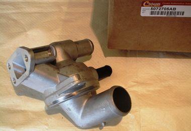 Thermostat With Housing (KJ Diesel) (5072705AB / JM-00142 / Crown Automotive)