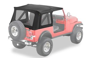 Replace-A-Top Soft Top, Black, CJ/YJ (for supertop classic) (55799-15 / JM-04942 / Bestop)
