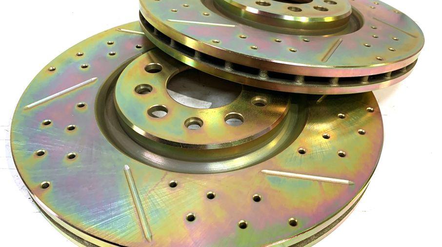 Front Performance Brake Disc / Rotor (Pair), KL 330mm (J1BM48160/4779884AC / JM-05406 / Terrafirma)