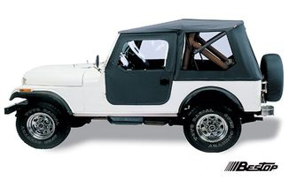 Tigertop Soft Top, Black, CJ-7 (51408-01 / JM-01112 / Bestop)