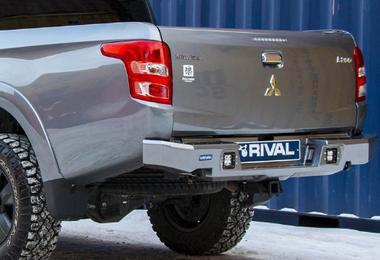 Aluminium Rear Bumper, Rival, L200 (2D.4003.1-NL / SC-00196 / Rival 4x4)