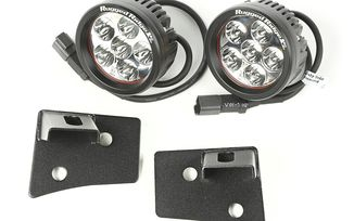 Windshield Bracket LED Light Kit, Round, JK (11027.17 / TF4103 / JM-04109 / Rugged Ridge)