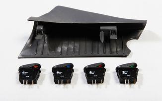 A-Pillar 4 Switch Pod Kit, JK 07-10 RHD (17235.87 / JM-02956 / Rugged Ridge)