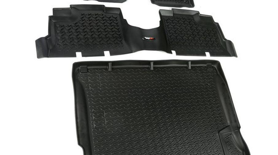 Floor Liner Kit, Black, JK 4 Door (12988.04 / JM-03279 / Rugged Ridge)