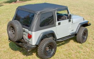 Bowless XHD Soft Top TJ, Sailcloth With Hardware (13751.01 / JM-03979 / Rugged Ridge)