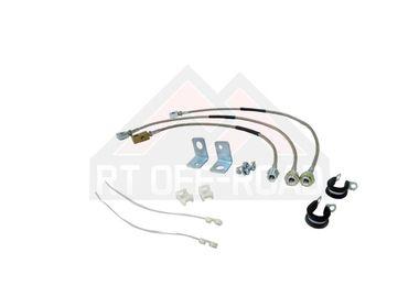 Stainless Steel Brake Hose Kit (Wrangler, Cherokee) (7425/RT31015 / JM-00518 / RT Off-Road)