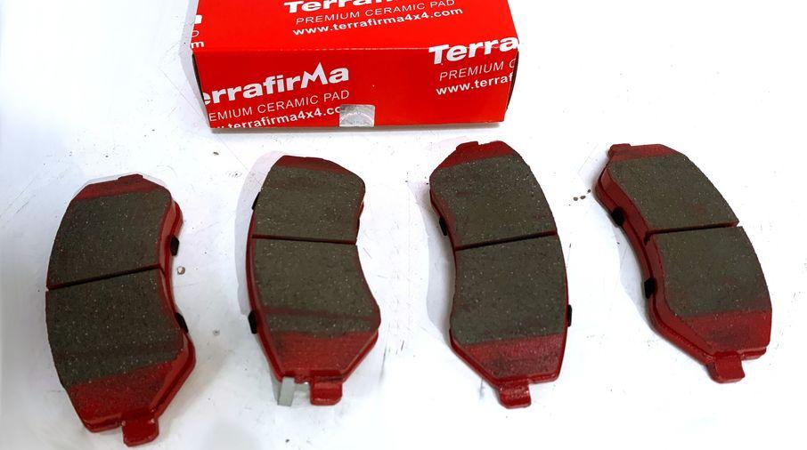 Front Ceramic Brake Pad Set, KJ (J1BM47572/5096349AA / JM-05408 / Terrafirma)