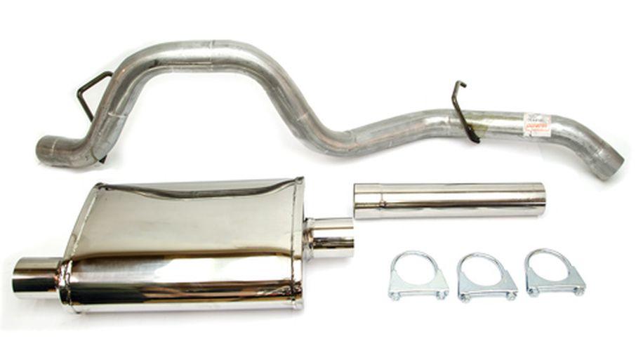 """01-06 Jeep Wrangler 2.5/"""" Exhaust Kit Stainless Muffler"""