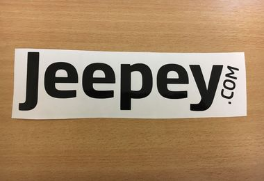 Jeepey Small Black Sticker (Sticker-B-S)
