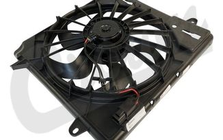 Cooling Fan Module, 2.8 CRD and 3.8L, JK (68039595K / JM-03999 / Crown Automotive)