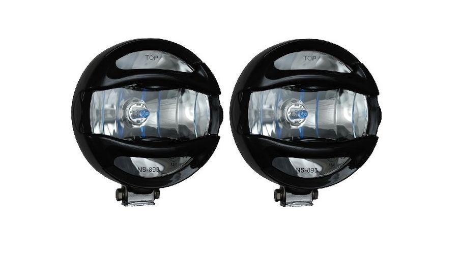 """6"""" Black 100 Watt Halogen Lamp x 2 w/ Guard (VX-T9000B / JM-01900D / Vision X lighting)"""