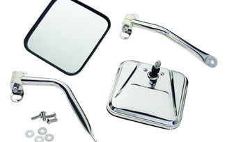 Complete Side Mirror Set (Stainless) (RT30001 / JM-05520 / Crown Automotive)