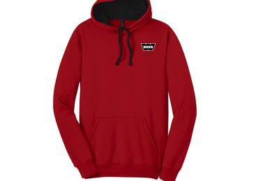Warn Unisex Pullover Hoodie, Red (JM-04328 / Warn)