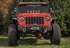 Front Recovery Bumper, Arcus, w/ Winch Tray & Tow Hooks, JK (11549.11 / JM-04972 / Rugged Ridge)