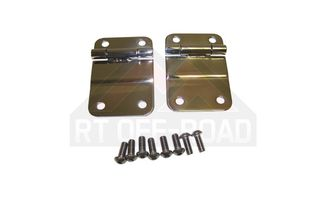 Lower Tailgate Hinges (Stainless) CJ (RT34035 / JM-01387 / RT Off-Road)
