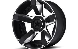 Rockstar II XD811, 17X8, Black / Silver (XD81178035510 / JM-03008 / XD Series)