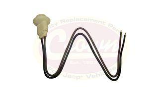 Side Marker / Indicator Socket and Cable (J5455853 / JM-00209SP / Crown Automotive)