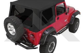 Replacement Soft Top (Black Diamond w/ Tinted Windows) (RT10435T / JM-03724 / RT Off-Road)