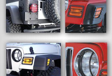 Euro Guard Light Kit, Black, TJ (12495.02 / JM-02360 / Rugged Ridge)