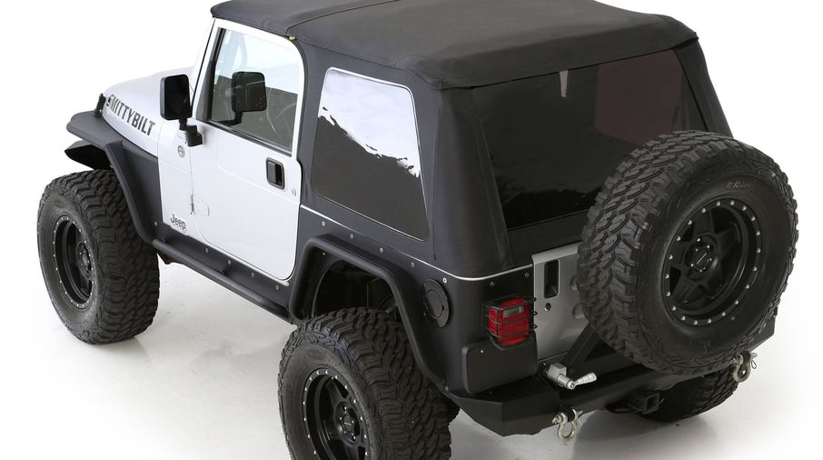 Bowless Combo Top, Black Demin With Tinted Windows, TJ (9973235 / JM-05778 / Smittybilt)