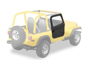 Half Doors, 2-piece, Black Crush YJ & CJ (51783-01 / JM-05172OS/B / Bestop)