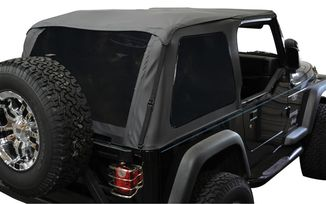 Bowless Soft Top TJ, Black Diamond w/ Tint (BRT10035 / JM-00334 / RT Off-Road)