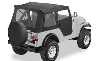 Supertop Kit includes 2-piece soft doors with paddle handle Black Crush (51597-01 / JM-05776 / Bestop)