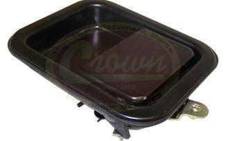 Paddle handle, Door [LH], CJ & YJ (5758173-BLK / JM-01390 / Crown Automotive)